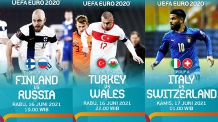 Jadwal Siaran Langsung EURO 2020 Malam Ini, Italia vs Swiss, Gli Azzurri Kunci Tiket Babak 16 Besar