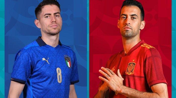 Prediksi, Line Up & Jadwal Tayang Semifinal Euro 2021 Malam Ini: Italia vs Spanyol, Live RCTI