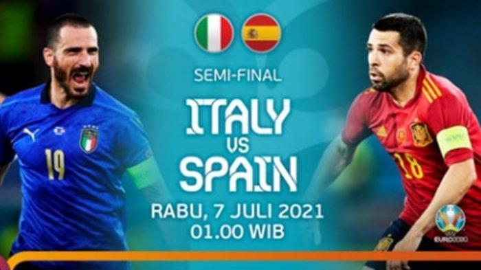 Live RCTI, Siaran Langsung Semifinal Euro 2020 Italia vs Spanyol, Prediksi Susunan Pemain dan H2H