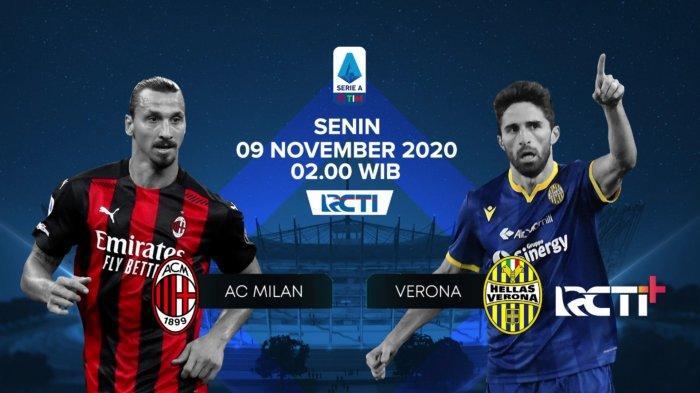 Jadwal LIGA ITALIA - AC Milan vs Verona, Ujian Mentalitas Skuad Muda Rossoneri, Siaran Langsung RCTI
