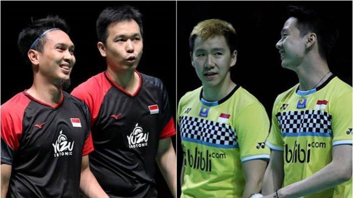 Jadwal Final Indonesia Masters 2020 Minggu (19/1/2020), Derby Indonesia Ahsan/Hendra vs Marcus/Kevin