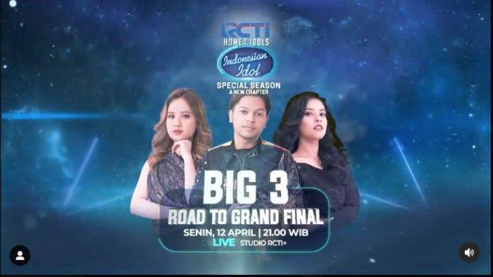 Top 3 Indonesian Idol 2021 Anggi, Mark dan Rimar. Berikut jadwal Road To Grand Final Indonesian Idol 2021, kolaborasi Top 3 dengan Super Girls dan Laleilmanino, ini pasangan duet Anggi, Rimar dan Mark