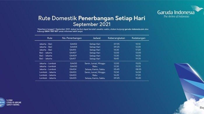 Jadwal terbaru maskapai Garuda Indonesia