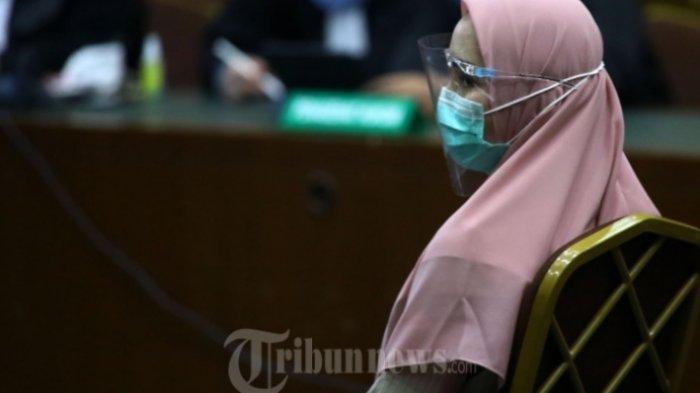 Jaksa Pinangki Nangis Dengar Kesaksian Suami, Tidak Harmonis, tak Tahu Gaji Istri & Brankas di Rumah