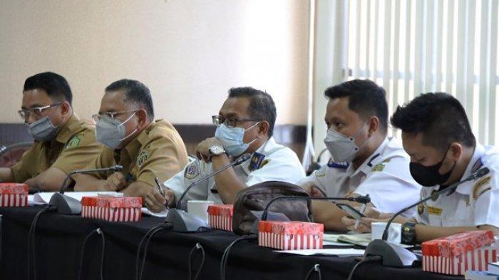 INSIDEN JEMBATAN - Hearing Komisi III DPRD Kaltim terkait insiden penabrakan Jembatan Dondang Muara Jawa, Kabupaten Kutai Kartanegara, Senin (8/3/2021).