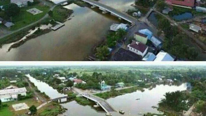 Waduh, Jembatan Senilai Rp 17 Miliar di Kalsel Roboh, Padahal Baru Dibangun 2 Tahun Lho!