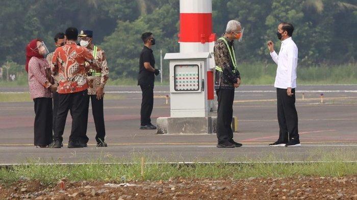 Dampingi Jokowi Tinjau Progres Pembangunan Bandara Jenderal Soedirman, Ganjar: The Dream Come True