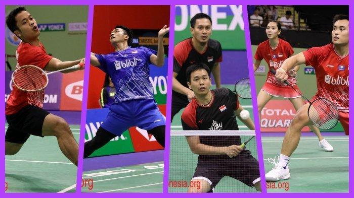 Rekap Hasil Hong Kong Open 2019 4 Wakil Indonesia di Semifinal, Jonatan Christie vs Anthony Ginting