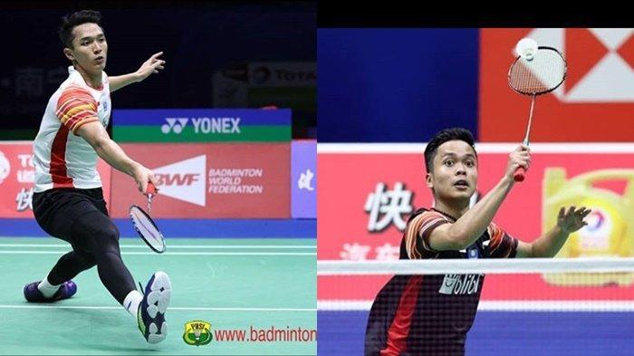 INDONESIA OPEN 2019 Tayang Besok, Berikut 3 Modal Penting Anthony Ginting dan Jonatan Christie