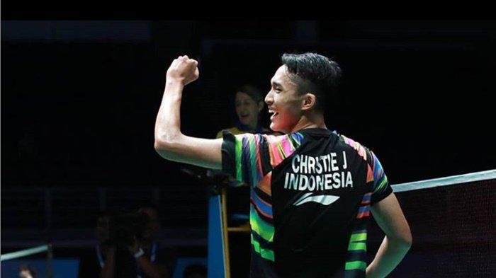 Terpopuler - Kalahkan Viktor Axelsen, Jonatan Christie Melangkah ke Semifinal Malaysia Open 2019