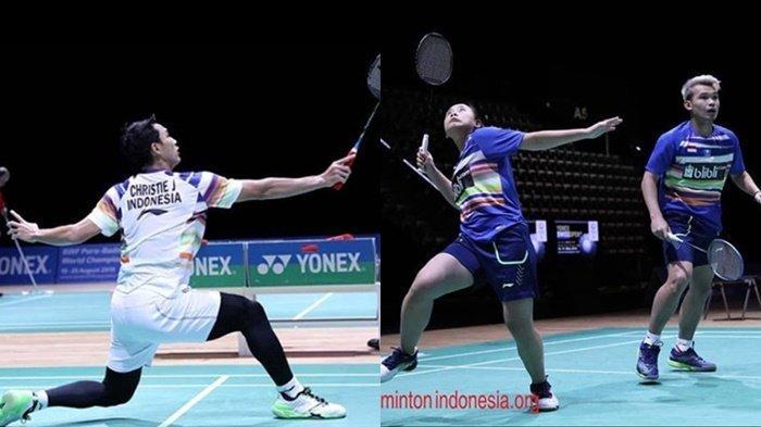 Hasil Swiss Open 2019 - Jonatan Christie Kalah dari Wakil India, Rinov/Phita Menangi Perang Saudara