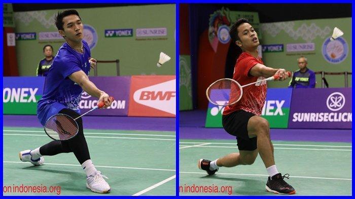 Semifinal Hong Kong Open 2019 Jonatan Christie vs Anthony Ginting Siapa Unggul dalam Perang Saudara?