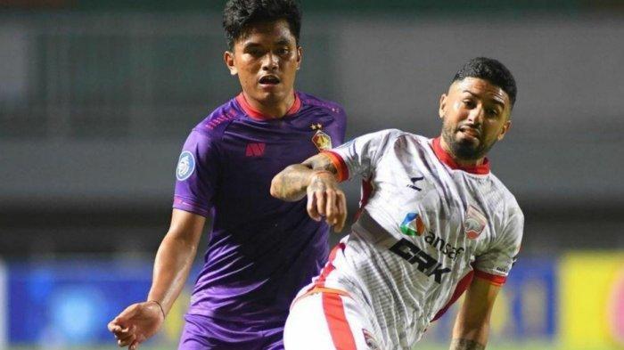 Jonathan Bustos, pemain gelandang Borneo FC saat melawan Persik Kediri di Stadion Pakansari Bogor. HO/BORNEO FC