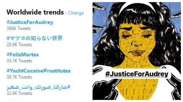 #JuscticeForAudrey Trending 1 Twitter Dunia, Kronologi Siswi SMP di Pontianak Dikeroyok 12 Siswi SMA