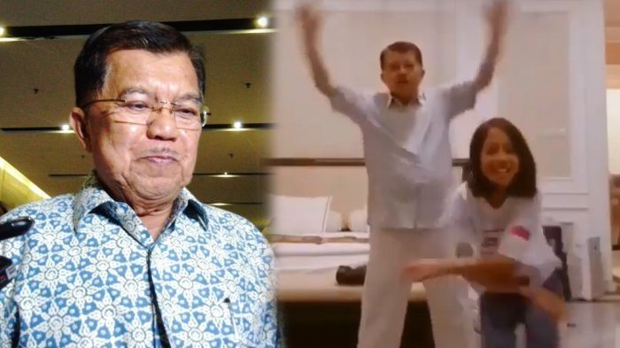 Viral, Jusuf Kalla ikut Goyang Tik Tok Bareng Cucunya, Begini Tanggapan sang Wapres