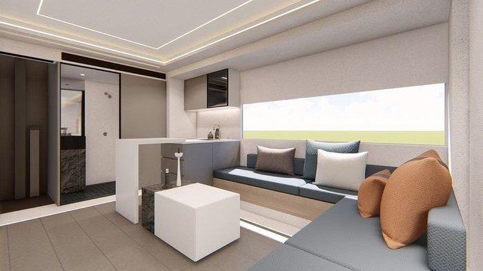Tampilan kabin fungsional Maxus V90 Villa Edition.