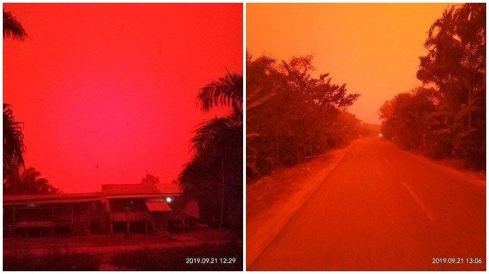 Viral Langit Merah di Muaro Jambi Lantaran Sedang Karhutla, BMKG Sebut Hamburan Mie