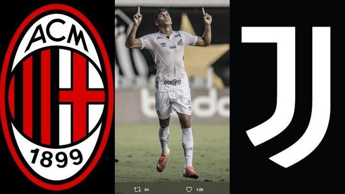 Persaingan Panas Juventus vs AC Milan Jelang Liga Italia, Berebut Wonderkid Brasil di Bursa Transfer