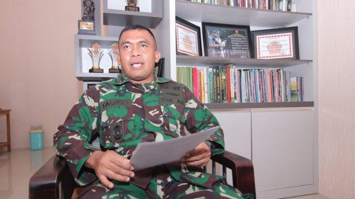 Kapendam VI Mulawarman, Letkol Inf Muhammad Taufik Hanif ditemui di ruangannya, Rabu (14/4/2021)