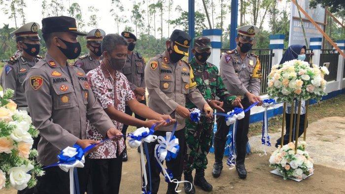 Kapolres Kukar Resmikan Kelurahan Bukit Biru sebagai Pilot Project Kampung Tertib Lalu Lintas
