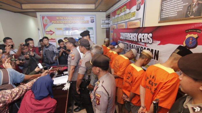 Razia Preman di Pasar Pandansari, Kapolres Balikpapan: Preman Harus Dibasmi