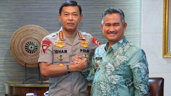 Ketua APEKSI Kalimantan Khairul Bersama Kapolri Bahas Sinergitas Pengawalan Pembangunan