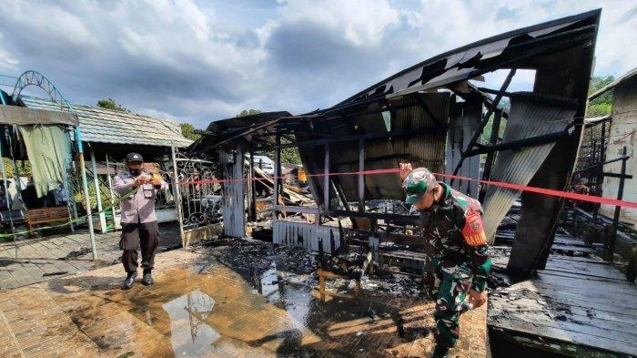 Diduga akibat Aktivitas Ngisi Baterai Handphone saat Tidur,2 Rumah di Palaran Hangus Terbakar