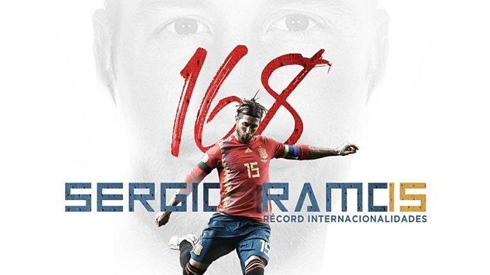 Resmi Catat Rekor Penampilan Internasional Terbanyak di Timnas Spanyol, Sergio Ramos Tak Bahagia