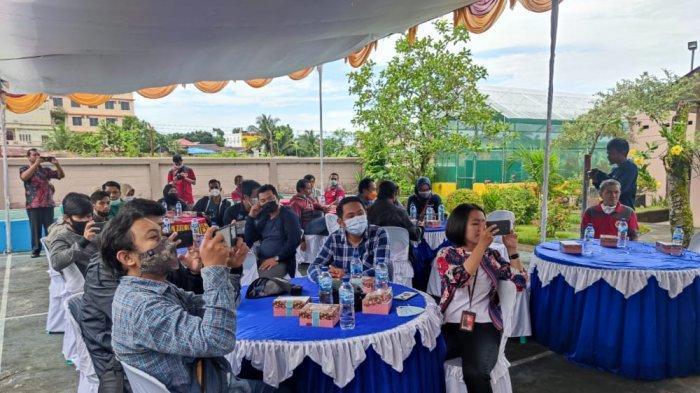 Suasana kegiatan sosialisasi terkait bahaya virus ASF pada babi di kantor BKP Tarakan wilyah kerja Bandara Juwata Tarakan.