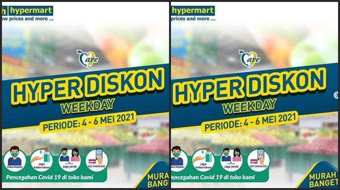 KATALOG PROMO Hypermart Terbaru Selasa 4 Mei 2021, Beli 1 Gratis 1, Diskon Barang hingga 40 %
