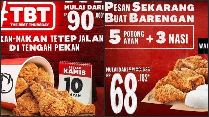 KATALOG PROMO KFC Kamis 4 Maret 2021, Dapatkan 10 Ayam dengan Harga Mulai dari Rp 90.000