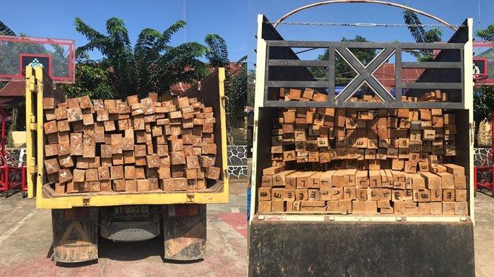 Bawa Kayu Olahan Ilegal di Perbatasan Kalteng, Empat Pelaku Diamankan Polres Kubar