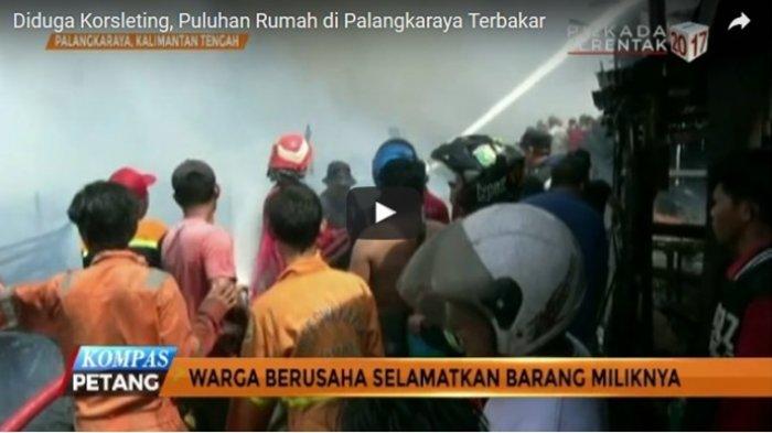 VIDEO - Puluhan Rumah Terbakar Diduga Akibat Korsleting