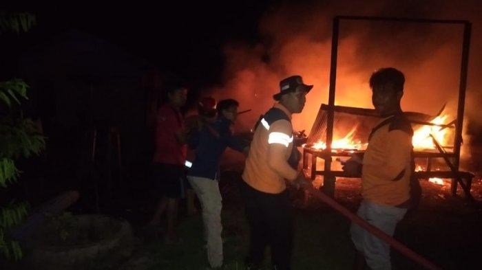 Ditinggal Pergi ke Kalimantan Selatan, Satu Rumah Kosong di Penajam Hangus Terbakar