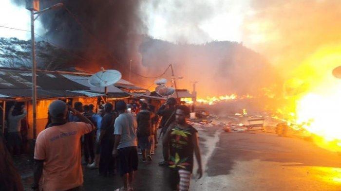 Berawal dari Pesta Miras, 150 Kios Terbakar di  Distrik Oksibil, Kabupaten Pegunungan Bintang, Papua
