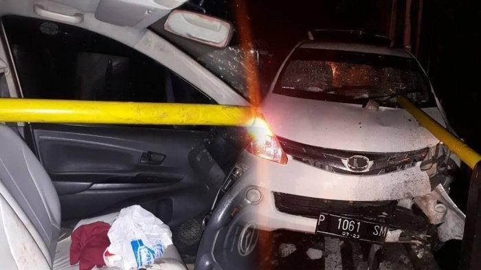 Kecelakaan Tunggal, Besi Pembatas Tembus dari Kaca Depan Hingga Jok Belakang