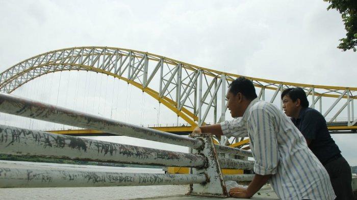 Mengenang Delapan Tahun Jembatan Kutai Kertanegara, Ini yang Dilakukan para Jurnalis di Tenggarong