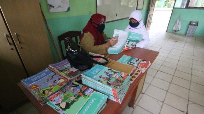 Ilustrasi simulasi pembelajaran tatap muka di salah satu sekolah di Balikpapan saat pandemi Covid-19. TRIBUNKALTIM.CO, DWI ARDIANTO
