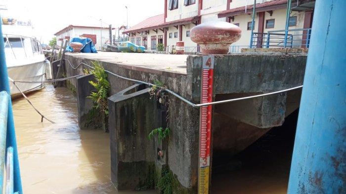 UPDATE Ketinggian Air Sungai Kayan Tanjung Selor, Volume di Hulu Mulai Surut