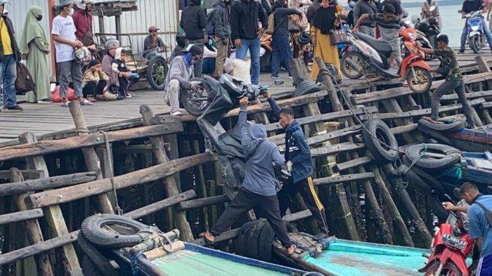 Situasi Pelabuhan Klotok Kampung Baru, Kelurahan Baru Tengah Kota Balikpapan hari ini, Minggu (16/5/2021).TRIBUNKALTIM.CO, DWI ARDIANTO