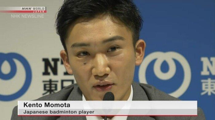 Kento Momota, tunggal putra Jepang. Kento Momota dinyatakan positif covid-19. Jepang mundur dari 3 turnamen leg Asia.