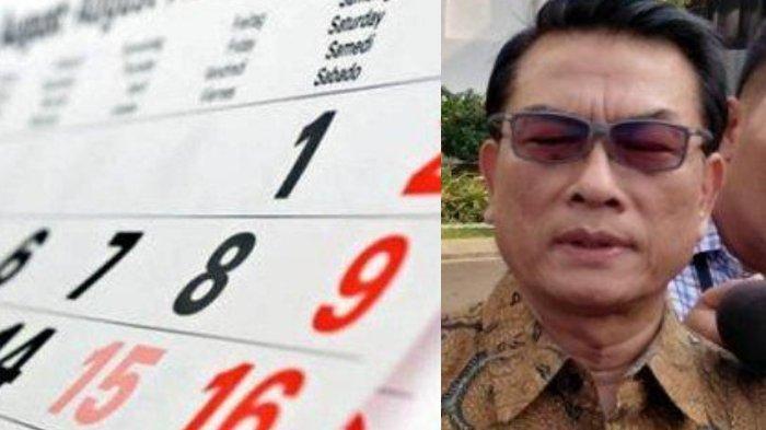 Jadwal Libur Panjang dan Cuti Bersama Akhir Desember Berubah Lagi, Moeldoko Sampaikan Arahan Jokowi
