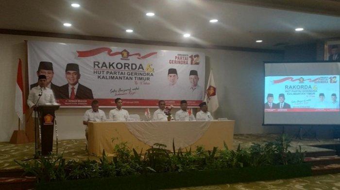 Andi Harun Perkenalkan Rusmadi Wongso di Hadapan Sekjen Ahmad Muzani dan Kader Gerindra Kaltim