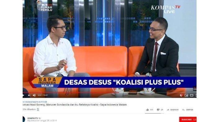 Paparannya Terkesan Yakin Dapat Jatah Menteri,Ketua DPP Gerindra Langsung Klarifikasi ke Aiman