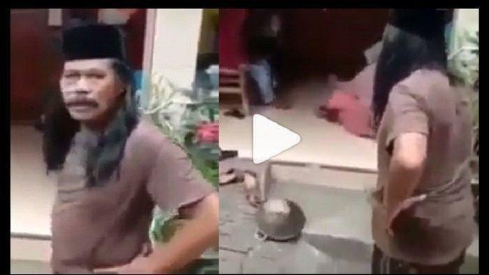 Viral, Detik-detik Pak RT Lempar Wajan ke Ibu-ibu Ngerumpi Saat Covid-19 Merebak, Semua Berhamburan