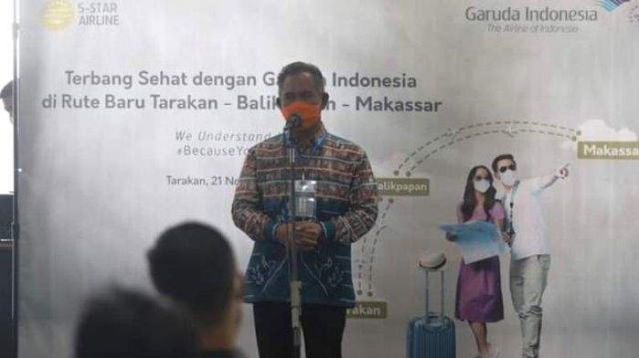 Walikota Khairul Dukung Garuda Kembali Layani Rute Tarakan-Balikpapan Setelah Absen 1,5 Tahun