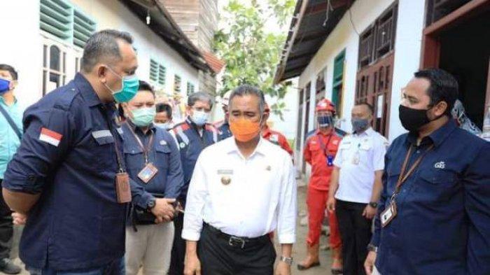 JARINGAN GAS - Walikota Tarakan Khairul saat menghadiri peresmian sambungan jaringan gas (jargas) rumah tangga di Kelurahan Karang Harapan, Rabu (11/11/20).