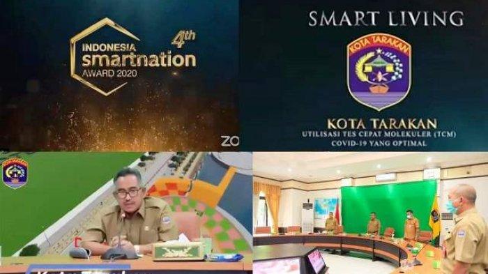 Dinilai Berhasil Tangani Covid-19, Pemkot Tarakan Terima Penghargaan Indonesia Smart Nation Award