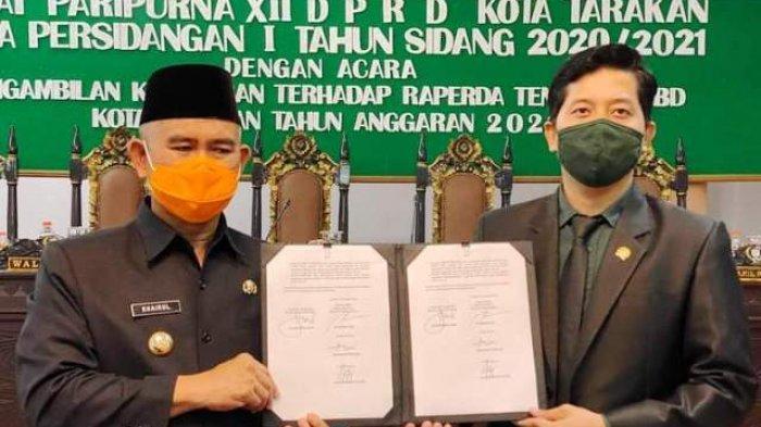DPRD dan Pemkot Tarakan Sepakat Tetapkan Perda APBD Tarakan 2021, Sebesar Rp 1,004 Triliun