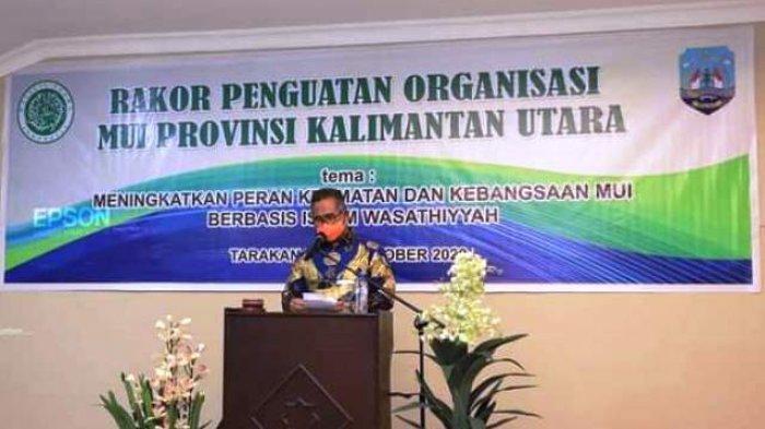 Rakorda MUI Kaltara, Walikota Ajak Tokoh Agama Turut Sosialisasikan Penerapan Protokol Kesehatan